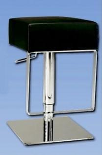 0811-AS-BLK Pneumatic Gas Lift Adjustable Height Swivel