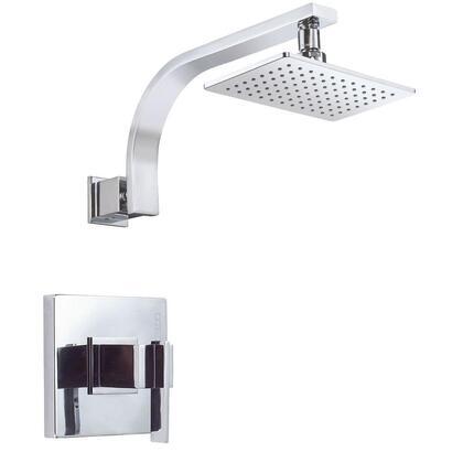 D510544T Sirius 1-Handle Pressure Balance Shower Faucet Trim Kit in Chrome