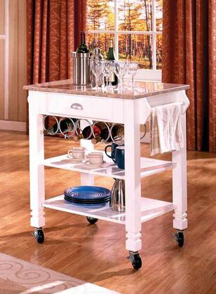 7431 Marble Kitchen Island White