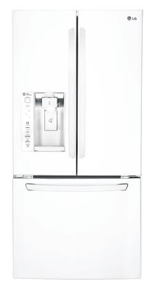 "LFXS24623W 33"""" French Door Refrigerator with 24 Cu. Ft. Capacity  Glide N' Serve Drawer  Slim SpacePlus Ice System  Smart Cooling System  Premium LED Lighting"" 376035"