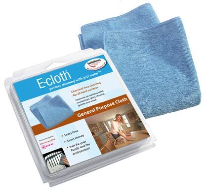 AECGPCPC10 Chemical-Free General Purpose E-Cloth for All Hard Surfaces  Pack of