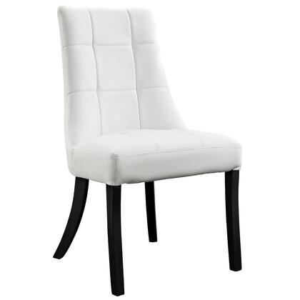 EEI-1039-WHI Noblesse Dining Vinyl Side Chair in White
