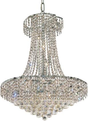 VECA1D26C/RC Belenus Collection Chandelier D:26In H:32In Lt:15 Chrome Finish (Royal Cut