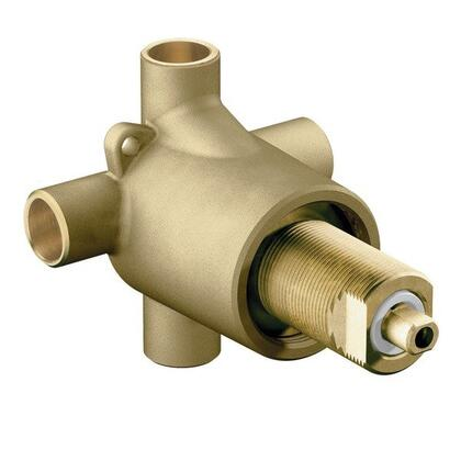 Commercial  3360 Transfer Valve 1/2 inch  CC With 4 Ports  Brass Material  Ceramic Disc Valve