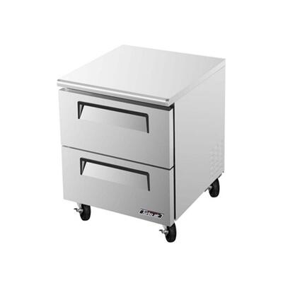 TUF28SDD2 2 Drawers Super Deluxe Series Undercounter Freezer with 7 cu. ft. Capacity  Efficient Refrigeration System  Stainless Shelves and Hot Gas Condensate