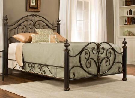 Grand Isle 1012BQR Queen Sized Bed with Headboard  Footboard  4 Posts and Side Rail in Brushed Bronze