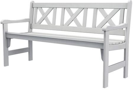 Pieva PIEVAFL19 3-Seater Wooden Garden Bench with Foldable Design  Stretchers and Slat Back in