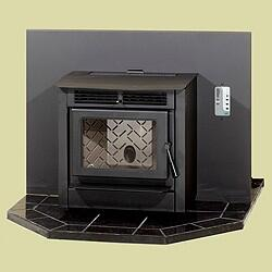 HRFPI Hudson River Stove Works Fireplace Insert w/ Black door (requires surround to