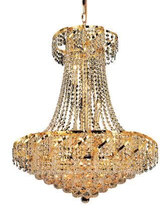 VECA1D26G/EC Belenus Collection Chandelier D:26In H:32In Lt:15 Gold Finish (Elegant Cut