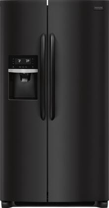 Frigidaire FGSS2635TE Gallery Series 36 Inch Freestanding Side by Side Refrigerator with 25.6 cu. ft. Capacity, in Ebony Black