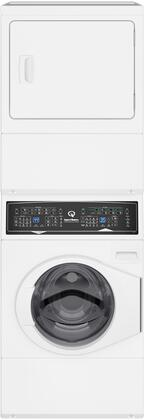 "SF7000WG 27"" Gas Stacked Washer and Dryer with Stainless Steel Tub  Balance Technology  Control Lock  Moisture Sensor  in"