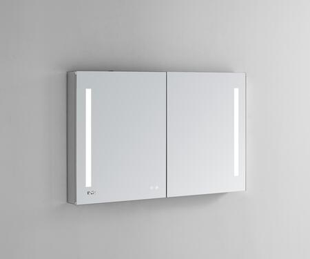 Signature Royale SR4840 48 inch  x 40 inch  Medicine Cabinet with Interior LED Light With Sensor  Touch Screen Buttons for On/Off  Adjustable Dimmer and Defogging Heated