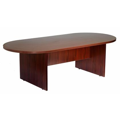 "N136-M 95"" x 47"" Race Track Conference Table with 3mm PVC Edge Banding in"