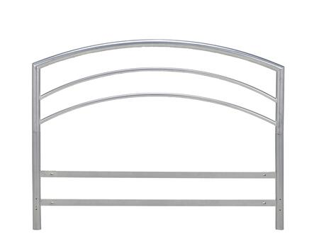 DSVHEADSDB Vault Silver Metal Headboard For Platform Bed Full