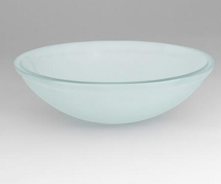 420819-S16 Oval Glass Vessel Sink:
