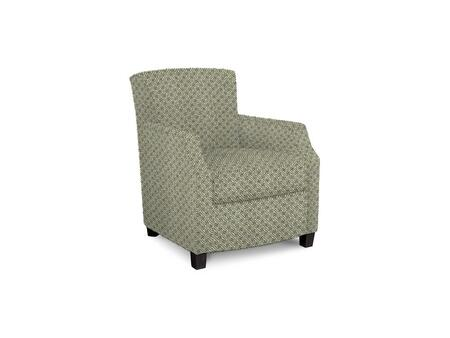Comiskey Connection 1149-02/BE54-5 28 inch  Accent Chair with Fabric Upholstery  Tapered Wood Legs  Tight Back and Contemporary Style in Woven Geometric