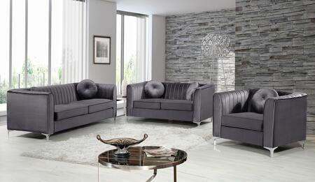 Isabelle Collection 739633 3-Piece Living Room Sets with Stationary Sofa  Loveseat and Living Room Chair in