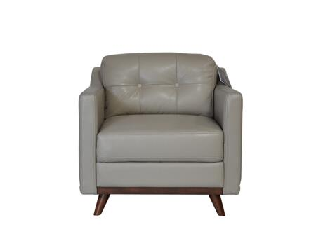 Monika Collection 35901M/S1308 32 inch  Chair with Top Grain Leather Upholstery  Track Arms and Tapered Legs in
