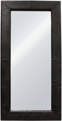 Luxe LUXEMIBLCR 2 inch  x 78 inch  Free-Standing Mirror w/ Locking Easel Mechanism in Black Croc