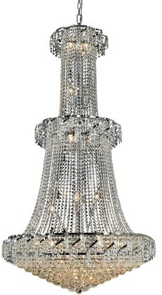 VECA1G36C/RC Belenus Collection Chandelier D:36In H:66In Lt:32 Chrome Finish (Royal Cut