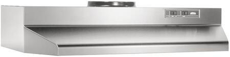 424204 42 Under Cabinet Range Hood with 190 CFM Internal Blower and 2-Speed Control in Stainless