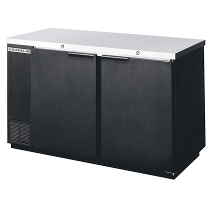 BB581B 59 inch  23.7 Cu. Ft. Storage Capacity Back Bar Refrigerator with Galvanized Top and Interior  Stainless Steel Floors  Interior Fluorescent Lighting with