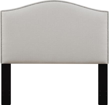 DS-D016-250-432 Fabric Upholstered Headboard For Full or Queen Bed with Nail Head Accents in