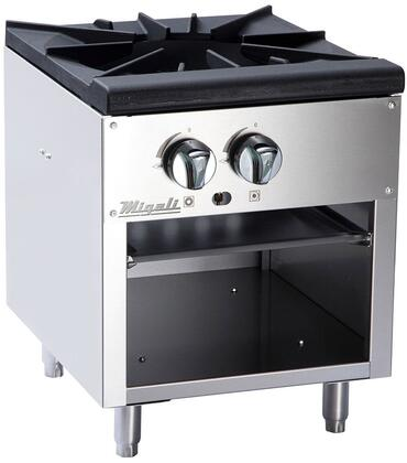 C-SPS-1-18 18 inch  Competitor Series Commercial Stock Pot Stove with 1 Burner  Heavy Duty Cast Iron Trivet  Stainless Steel Construction  and Chrome Knobs  in