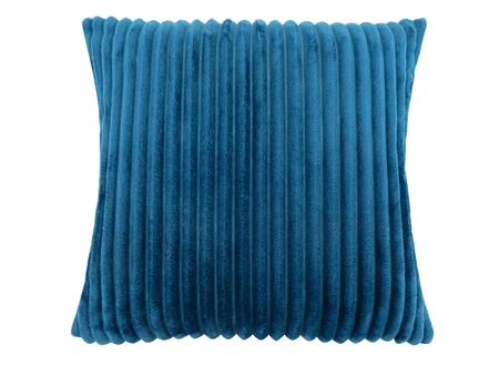 I 9358 18 inch  x 18 inch  Pillow with Textured Rib Cover in Blue - 1