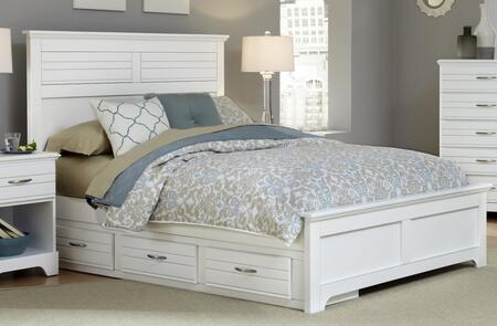 Platinum Collection 517850-3-519500-518350 Queen Size Storage Bed with Panel Headboard & Footboard  Wood Rails with Slats and 3 Drawer Under Bed Storage in