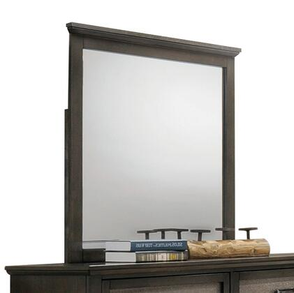 Anatole Collection 26284 36 inch  x 36 inch  Mirror with Square Shape  Chipboard Materials  Rubberwood and Tropical Wood Construction in Dark Walnut