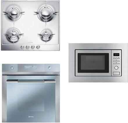 3-Piece Kitchen Package with PU64ES 24 inch  Natural Gas Cooktop  FU675 24 inch  Single Wall Oven  and MI20XU 24 inch  Built In