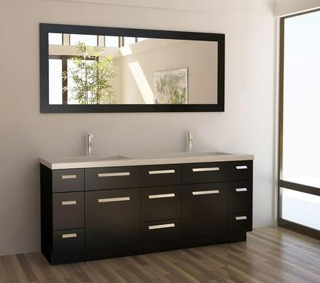 J72-DS Moscony 72 inch  Double Sink Vanity Set in