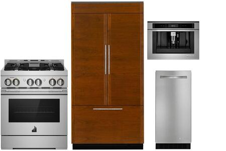 4 Piece Kitchen Appliance Package with JF36NXFXDE 36