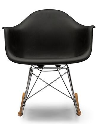 Baxton Studio DC-311W-Black Dario Mid-Century Modern Shell Chair with Chrome-Plated Steel Base  Non-Marking Feet and Polypropylene Plastic