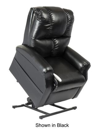 Main Street NM2001-SKR-A01 33 inch  Power Recliner Lift Chair with 3 Position Mechanism  Divided Back  and Sinuous Spring and Foam Seat in Lexi Royal Navy