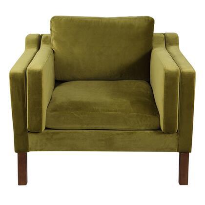 MONROE1-OLIVE-WL Monroe Mid-Century Modern Vintage Chair  Olive