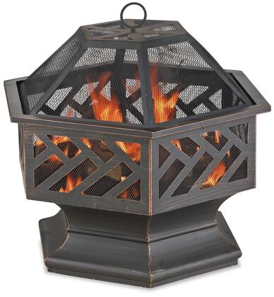 WAD1576SP Endless Summer 27.8 inch  Woodburning Outdoor Firepit with Rust-Resistant  Powder-Coatied Frame and Geometric