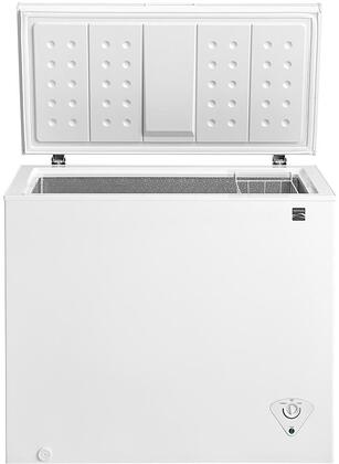 17602 38 Chest Freezer with Front-Mounted Temperature Controls  Power Indicator Light  Removable Wire Basket and Defrost Drain in