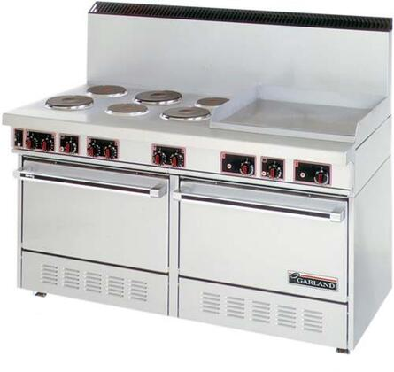 SS-684-24G 60 inch  Electric Range with 6 Elements  2 Ovens  24 inch  Griddle in Stainless