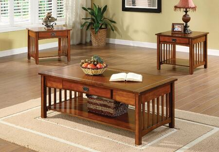 Seville Collection CM4245-3PK 3-Piece Living Room Table Set with Coffee Table and 2 End Tables in Antique