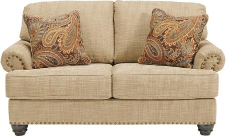 Candoro Collection 1180635 67 inch  Loveseat with Fabric Upholstery  Nail Head Trims  Rolled Armrests and Short Bun Feet in