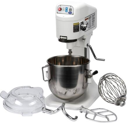 SP8 8 Quart Planetary Countertop Power Mixer with Powerful 1/4 HP Motor  3 Fixed Speeds  Gear-Driven High-Torque Transmission and Touch Pad Control
