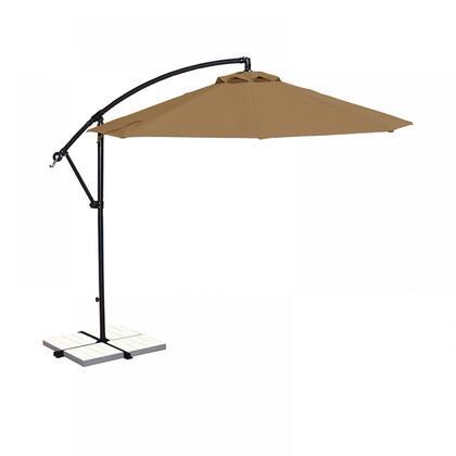 NU6400SS Santiago 10-ft Octagonal Cantilever Umbrella in Stone Sunbrella