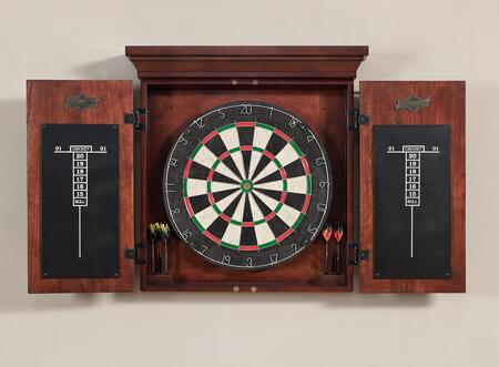 300811 Athos Dart Board Set with Self-Healing Bristle Board  Wood Cabinet  6 Steel-Tip Darts and 2 Scoring Chalkboards: