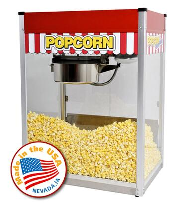 "1116810 16-Oz. 27"""" Classic Pop Popcorn Machine with Stainless Steel Foodzone & Tempered Glass"" 687467"