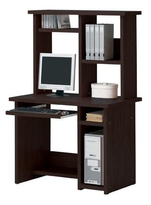 04690DH Linda Computer Desk + Hutch  in Espresso