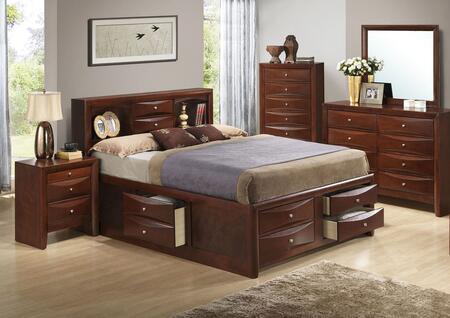 G1550G-FSB3BDMNC 5-Piece Bedroom Set with Full Size Storage Bed + Dresser + Mirror + Nightstand + Chest Drawer  in