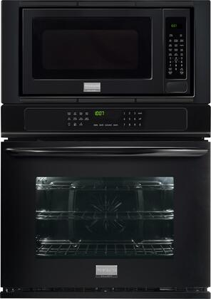 "Frigidaire Gallery 27"" Single Electric Convection Wall Oven with Built-In Microwave Black FGMC2765PB"