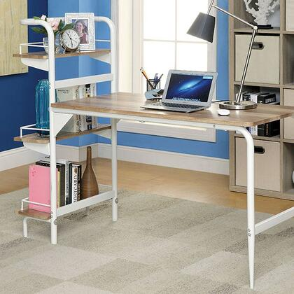 Maisy CM-DK6099 Computer Desk  with Contemporary Style  3 Side Shelves  Raised Guard Rails  Metal and Others* in Powder Coated
